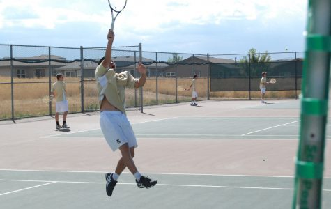 Boys Varsity Tennis Trying to Think Positive After Going 0-3 in Singles against Vista