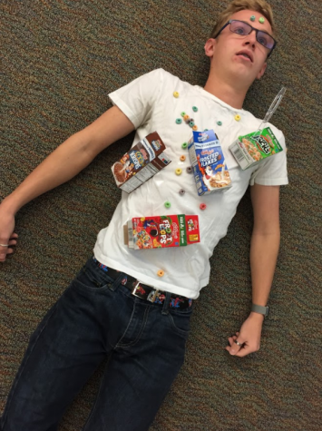 Zander Robinett '19 the cereal killer was cereal killed.