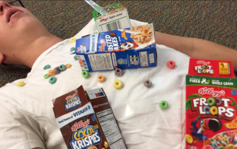 Zander Robinett '19 is preparing for a Halloween full of sugar and cereal.