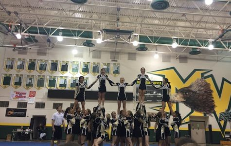 Saturday, Feb. 3, the varsity cheer team had their last in-state competition at Mountain Vista High School before they leave for Nationals, Wednesday, Feb. 7.