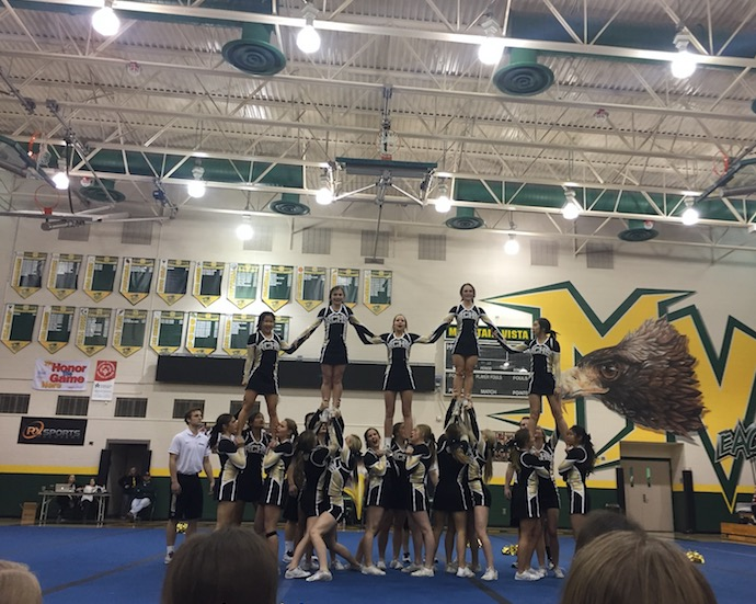 Saturday%2C+Feb.+3%2C+the+varsity+cheer+team+had+their+last+in-state+competition+at+Mountain+Vista+High+School+before+they+leave+for+Nationals%2C+Wednesday%2C+Feb.+7.++