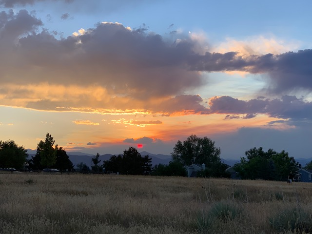 "The sky from Toepfer Park Aug. 11. The sun set at 8pm and appeared to be pink. ""I loved the sky lately and the beauty it holds, but of course it"