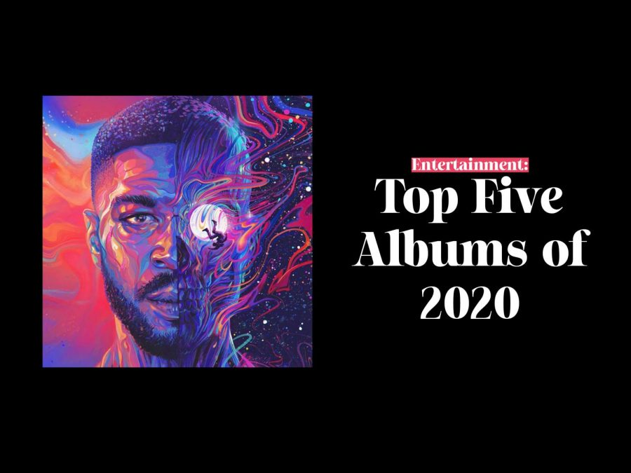 Top five albums of 2020 cover image, featuring Kid Cudi's