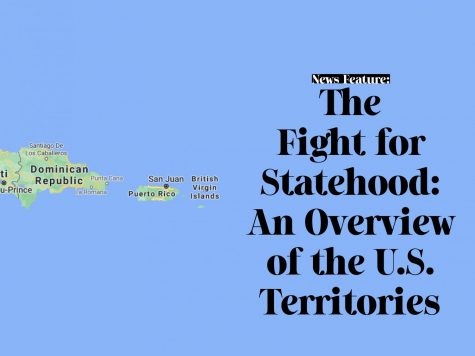 "Web header photo for ""The Fight for Statehood: An Overview of the U.S. Territories"" article, featuring a the Dominican Republic from Google Maps."