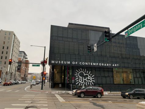 The entrance to the MCA on the corner of Delgany and 15th street.