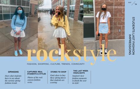 May ROCKstyle cover; Models: Aditi Avinash '24, Ripley Coope '22, and Ella Miller '23.