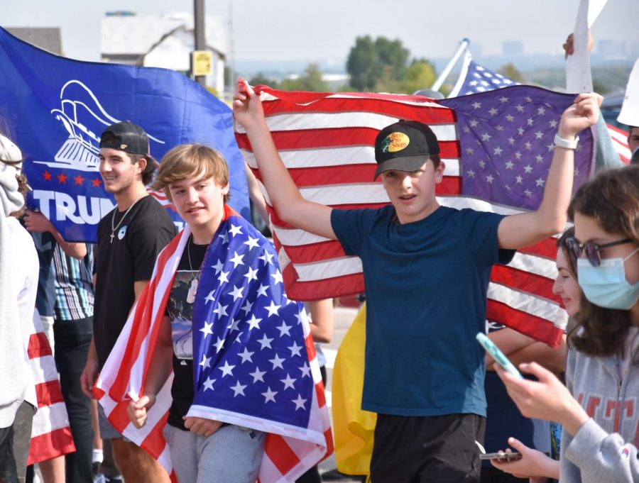 BREAKING: Rock Canyon Students Walk-Out of School to Protest Mask Mandate