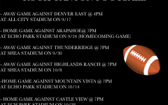 Varsity Football schedule image.